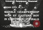 Image of marble championship won by Aaron Butash Ocean City New Jersey USA, 1933, second 7 stock footage video 65675066022