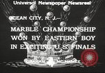 Image of marble championship won by Aaron Butash Ocean City New Jersey USA, 1933, second 9 stock footage video 65675066022