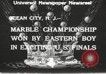 Image of marble championship won by Aaron Butash Ocean City New Jersey USA, 1933, second 11 stock footage video 65675066022