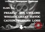 Image of cyclone Elgin Illinois USA, 1933, second 1 stock footage video 65675066023