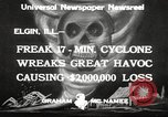 Image of cyclone Elgin Illinois USA, 1933, second 4 stock footage video 65675066023