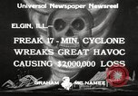 Image of cyclone Elgin Illinois USA, 1933, second 5 stock footage video 65675066023