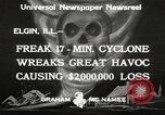 Image of cyclone Elgin Illinois USA, 1933, second 7 stock footage video 65675066023