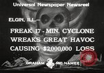 Image of cyclone Elgin Illinois USA, 1933, second 8 stock footage video 65675066023