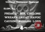 Image of cyclone Elgin Illinois USA, 1933, second 9 stock footage video 65675066023