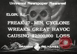 Image of cyclone Elgin Illinois USA, 1933, second 10 stock footage video 65675066023