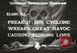 Image of cyclone Elgin Illinois USA, 1933, second 11 stock footage video 65675066023