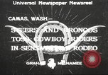Image of rodeo Camas Washington USA, 1933, second 1 stock footage video 65675066025