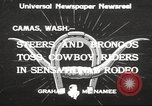 Image of rodeo Camas Washington USA, 1933, second 2 stock footage video 65675066025