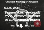 Image of rodeo Camas Washington USA, 1933, second 3 stock footage video 65675066025