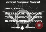 Image of rodeo Camas Washington USA, 1933, second 4 stock footage video 65675066025