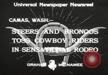 Image of rodeo Camas Washington USA, 1933, second 5 stock footage video 65675066025