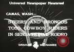 Image of rodeo Camas Washington USA, 1933, second 7 stock footage video 65675066025