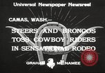 Image of rodeo Camas Washington USA, 1933, second 8 stock footage video 65675066025