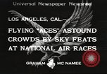 Image of National Air Races Los Angeles California USA, 1933, second 1 stock footage video 65675066026