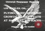 Image of National Air Races Los Angeles California USA, 1933, second 2 stock footage video 65675066026