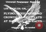 Image of National Air Races Los Angeles California USA, 1933, second 3 stock footage video 65675066026