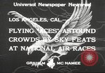Image of National Air Races Los Angeles California USA, 1933, second 4 stock footage video 65675066026