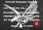 Image of National Air Races Los Angeles California USA, 1933, second 5 stock footage video 65675066026