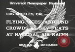 Image of National Air Races Los Angeles California USA, 1933, second 6 stock footage video 65675066026