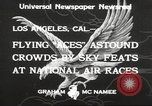 Image of National Air Races Los Angeles California USA, 1933, second 7 stock footage video 65675066026