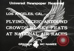 Image of National Air Races Los Angeles California USA, 1933, second 8 stock footage video 65675066026