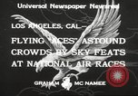 Image of National Air Races Los Angeles California USA, 1933, second 9 stock footage video 65675066026