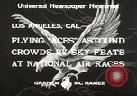 Image of National Air Races Los Angeles California USA, 1933, second 10 stock footage video 65675066026