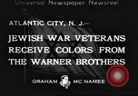 Image of Jewish war veterans Atlantic City New Jersey USA, 1933, second 1 stock footage video 65675066027