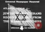 Image of Jewish war veterans Atlantic City New Jersey USA, 1933, second 4 stock footage video 65675066027