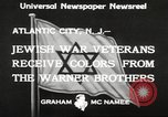 Image of Jewish war veterans Atlantic City New Jersey USA, 1933, second 6 stock footage video 65675066027