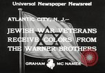 Image of Jewish war veterans Atlantic City New Jersey USA, 1933, second 7 stock footage video 65675066027