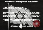 Image of Jewish war veterans Atlantic City New Jersey USA, 1933, second 8 stock footage video 65675066027