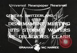 Image of World Disarmament Conference Geneva Switzerland, 1933, second 1 stock footage video 65675066028