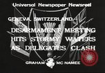 Image of World Disarmament Conference Geneva Switzerland, 1933, second 6 stock footage video 65675066028