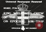 Image of Graf Zeppelin Rome Italy, 1933, second 2 stock footage video 65675066031