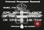 Image of Graf Zeppelin Rome Italy, 1933, second 3 stock footage video 65675066031