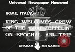 Image of Graf Zeppelin Rome Italy, 1933, second 7 stock footage video 65675066031
