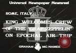 Image of Graf Zeppelin Rome Italy, 1933, second 11 stock footage video 65675066031