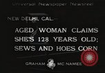 Image of 128 year old woman Delhi California USA, 1933, second 1 stock footage video 65675066032