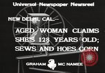 Image of 128 year old woman Delhi California USA, 1933, second 5 stock footage video 65675066032