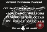 Image of ammunition dumping Sandy Hook New Jersey USA, 1933, second 3 stock footage video 65675066033