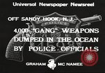 Image of ammunition dumping Sandy Hook New Jersey USA, 1933, second 9 stock footage video 65675066033