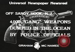 Image of ammunition dumping Sandy Hook New Jersey USA, 1933, second 12 stock footage video 65675066033