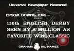 Image of English Derby Epsom England, 1933, second 12 stock footage video 65675066036