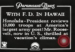 Image of Franklin Roosevelt Pearl Harbor Hawaii USA, 1934, second 2 stock footage video 65675066039