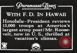 Image of Franklin Roosevelt Pearl Harbor Hawaii USA, 1934, second 3 stock footage video 65675066039