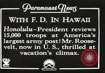 Image of Franklin Roosevelt Pearl Harbor Hawaii USA, 1934, second 4 stock footage video 65675066039