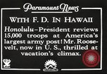 Image of Franklin Roosevelt Pearl Harbor Hawaii USA, 1934, second 6 stock footage video 65675066039
