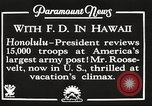 Image of Franklin Roosevelt Pearl Harbor Hawaii USA, 1934, second 7 stock footage video 65675066039